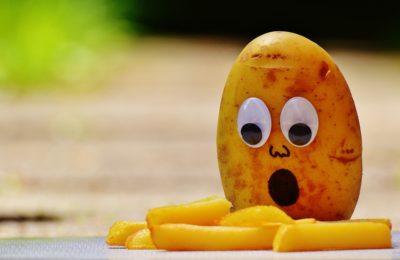 картошка испугалась