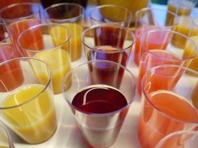 в стаканах